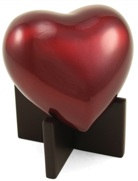 Arielle Heart Urn - RUBY